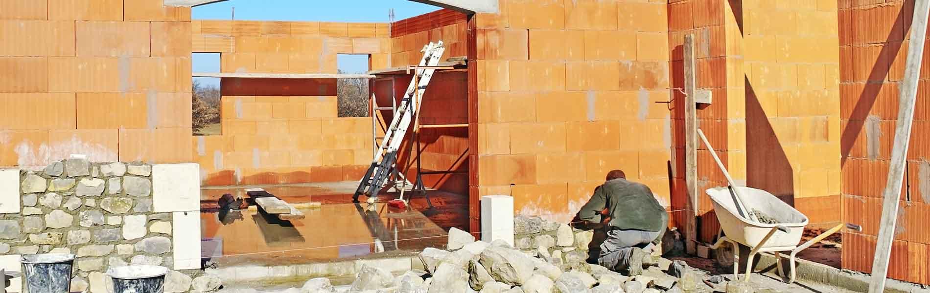 Chantier d'une entreprise de construction