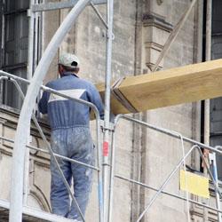 Rénovation d'une façade abîmée